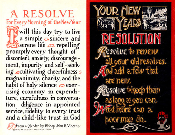 Postcards2CardsNewYearsResolution1915